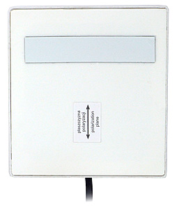 Antena wewnętrzna mikropaskowa panelowa ATK-P1/2,4GHz + 2 m przewodu + wtyk SMA R/P 8 dB biala