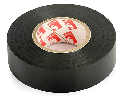 Insulation Adhesive Tape: PVC SCAPA 2702<br>(0.13*19mm/25m, black)