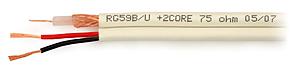 CCTV Cable: YAR75-0.59/3.7+2*0.50 [100m]