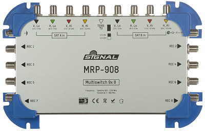 MRP-908 Multiswitch Signal 9/8 z pasywnym torem TV naziemnej