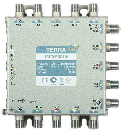 Rozgałęźnik TV/SAT SDQ-508 klasa A, 5-we, 20-wy Terra